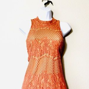 Dina Be Dusty Rose Knitted Dress With Lining